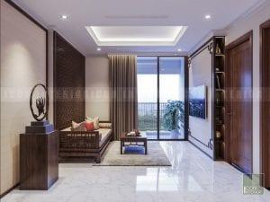 thiết kế nội thất nhà bếp căn hộ 2 phòng ngủ