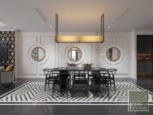 thiết kế căn hộ phong cách indochine - thiết kế phòng ăn