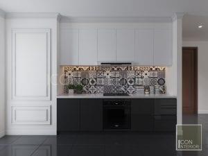 thiết kế căn hộ phong cách indochine - thiết kế nhà bếp