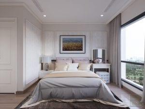 phòng ngủ master căn hộ park 6 vinhomes central park