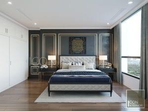 thiết kế căn hộ phong cách indochine - phòng master