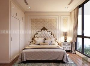thiết kế nội thất phong cách cổ điển phòng ngủ nhỏ