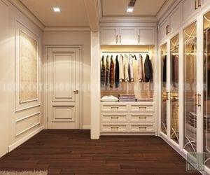 thiết kế nội thất phong cách cổ điển phòng thay đồ