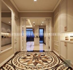 thiết kế nội thất phong cách cổ điển tiền sảnh