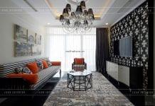 thiết kế phòng khách phong cách indochina
