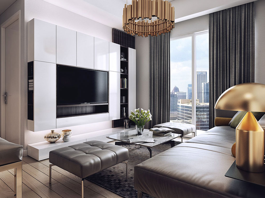 phong cách nội thất chung cư đương đại