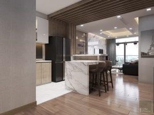 thiết kế quầy bar mini trong bếp 2