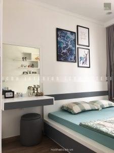 thi công nội thất trọn gói vinhomes central park - phòng ngủ nhỏ