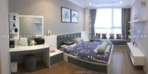 thi công nội thất trọn gói vinhomes central park - phòng ngủ master
