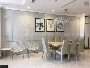thi công nội thất trọn gói vinhomes central park - phòng ăn