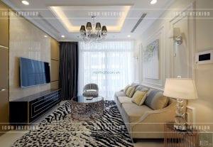 phong cách bán cổ điển - phòng khách