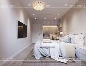 thiết kế biệt thự phố 3 tầng - phòng ngủ