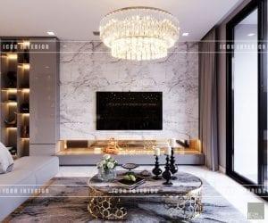 thiết kế nội thất phòng khách vinhomes ba son