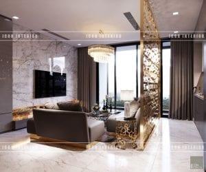 thiết kế nội thất vinhomes ba son phòng khách