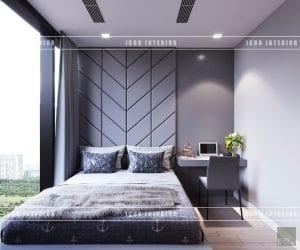 thiết kế nội thất vinhomes ba son phòng ngủ nhỏ