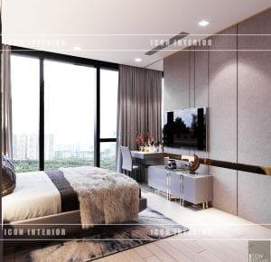 thiết kế nội thất vinhomes ba son - phòng ngủ master