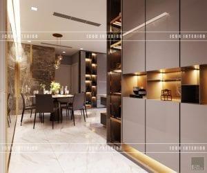 thiết kế nội thất vinhomes ba son - tiền sảnh