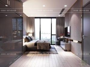 thiết kế nội thất vinhomes ba son phòng ngủ master
