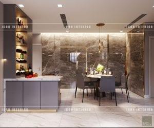 thiết kế nội thất vinhomes ba son phòng ăn