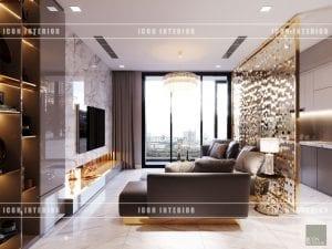 thiết kế nội thất vinhomes ba son - phòng khách