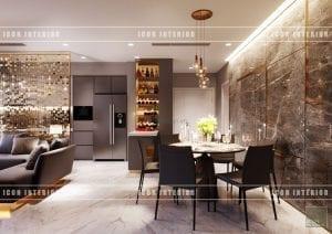 thiết kế nội thất vinhomes ba son - phòng ăn