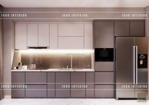 thiết kế nội thất vinhomes ba son - nhà bếp