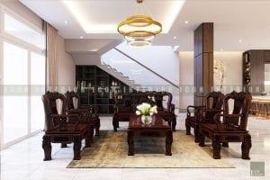 thiết kế nội thất biệt thự đẹp phòng khách