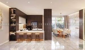 thiết kế nội thất biệt thự đẹp - quầy bar