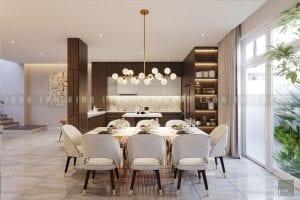 thiết kế nội thất biệt thự đẹp phòng ăn