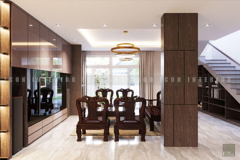 thiết kế nội thất biệt thự đẹp - gỗ tự nhiên