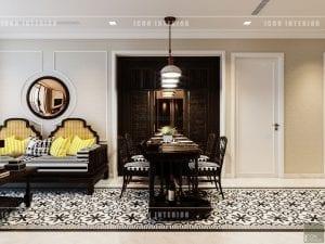 nội thất phong cách á đông phòng ăn