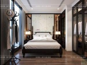 nội thất phong cách á đông phòng ngủ