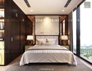 thiết kế nội thất đông dương - phòng ngủ master