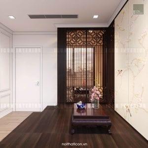 thiết kế nội thất đông dương - phòng thư giãn