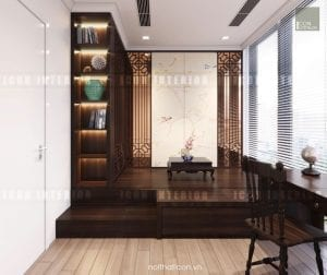thiết kế nội thất đông dương - phòng giải trí