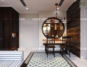 thiết kế nội thất đông dương - phòng ăn