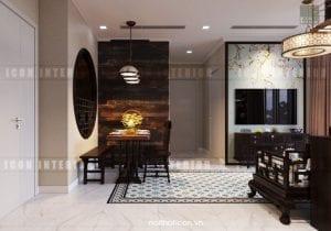 thiết kế nội thất đông dương - tiền sảnh
