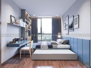 thiết kế phòng ngủ nhỏ park 2 vinhomes central park