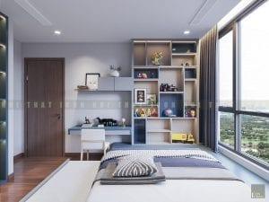 Thiết kế phòng ngủ trẻ em chung cư hiện đại 1