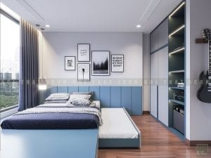 Thiết kế phòng ngủ trẻ em chung cư hiện đại
