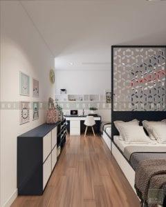 Thiết kế phòng ngủ trẻ em chung cư hiện đại 3