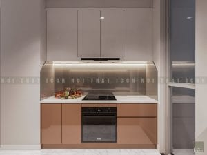 thiết kế phòng bếp chung cư hiện đại 1