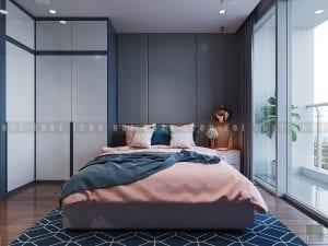 thiết kế phòng ngủ master chung cư hiện đại 2
