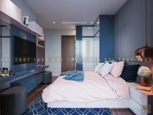 thiết kế phòng ngủ master chung cư hiện đại 3