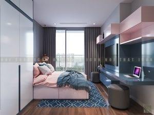 thiết kế phòng ngủ master chung cư hiện đại 1