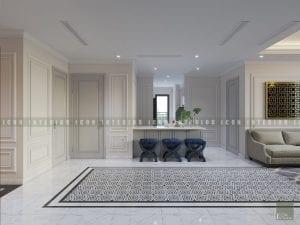 thiết kế nội thất quầy bar vinhomes central park