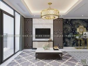 thiết kế nội thất phòng khách vinhomes central park