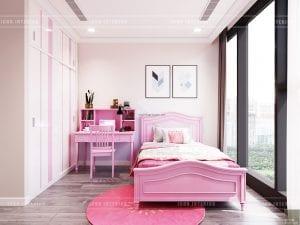 thiết kế vinhomes golden river sài gòn - phòng ngủ bé gái