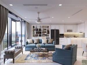 thiết kế vinhomes golden river sài gòn - phòng khách