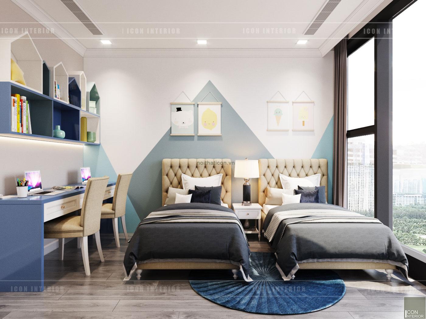 thiết kế vinhomes golden river sài gòn - phòng ngủ bé trai